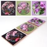 Triptychon Blumen Original Fotos