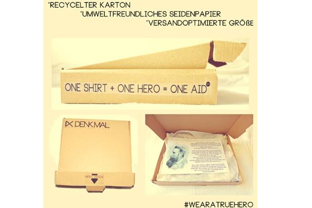 DENKMAL - T-Shirt Label / ONE SHIRT + ONE HERO = ONE AID