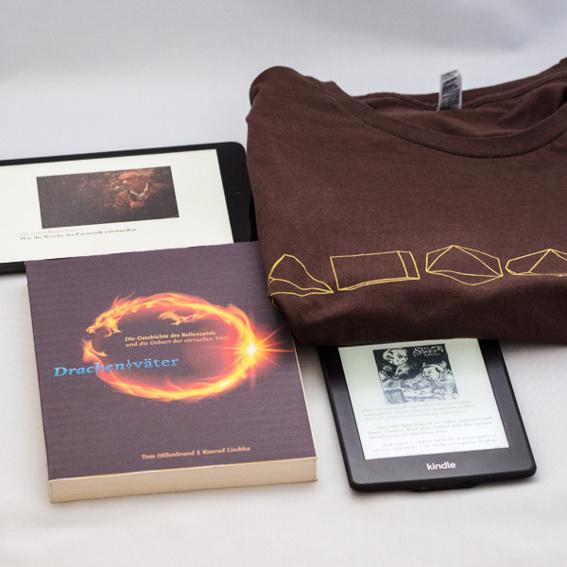 Signierte Printversion, spezielle Erwähnung, eBook, Shirt & Autorentreffen
