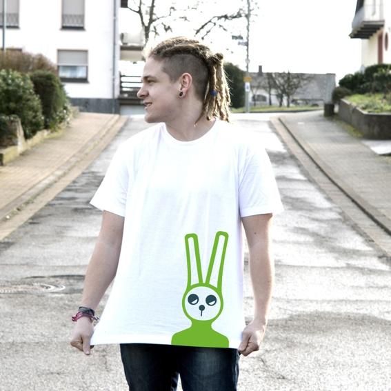 Unverpackt Trier Kult Shirt Green Rabbit