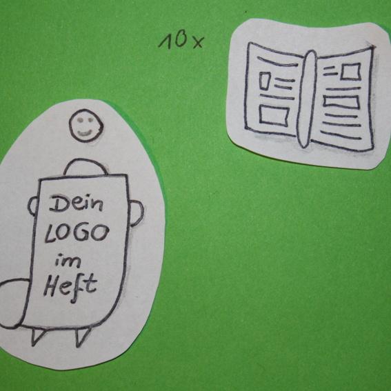 Ehrenspender*in und dein Logo im Heft + 10 Handbücher