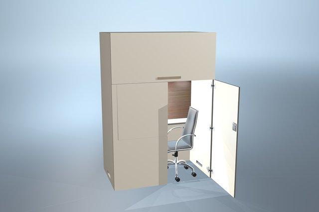 raumio das b ro im schrank. Black Bedroom Furniture Sets. Home Design Ideas