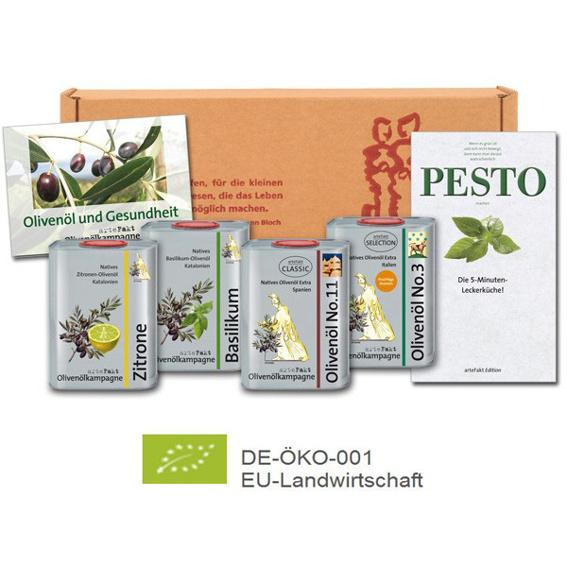 Set Bio Olivenöle - Für Freunde des guten Geschmacks