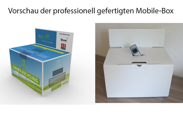 Mobile-Box / Die Recycling-Box für dein Handy