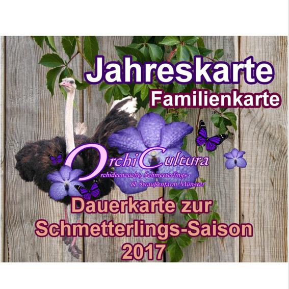Familien-Dauerkarte zur Schmetterlingssaison ( 2 Erwachsene und bis 2 Kinder)