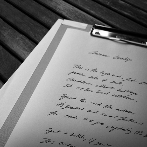 Handgeschriebene Lyrics + Album-Download