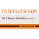 Ticket voucher A, 6 long-distance rides