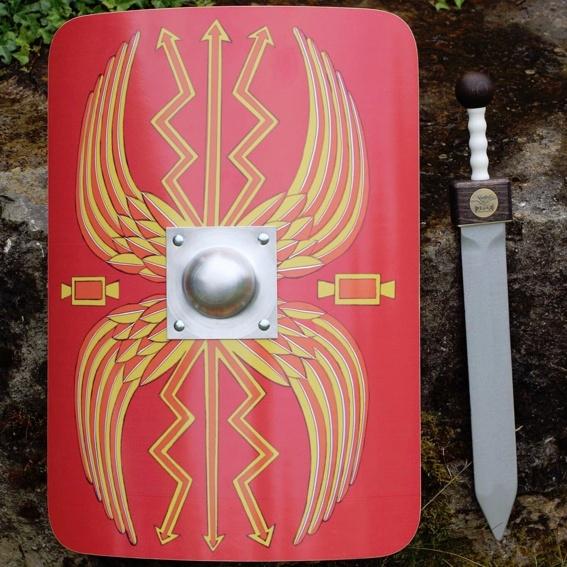 Römerschwert und Römerschild Legionär