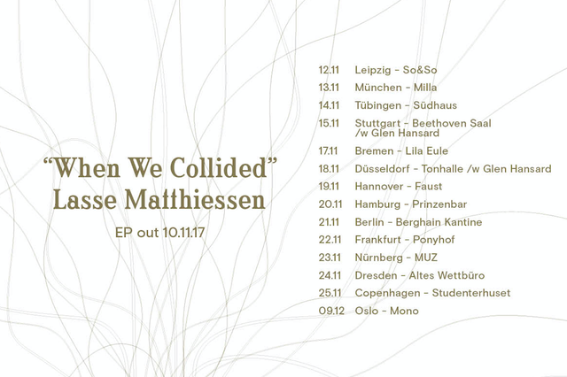 LASSE MATTHIESSEN - LIMITED VINYL WHEN WE COLLIDED