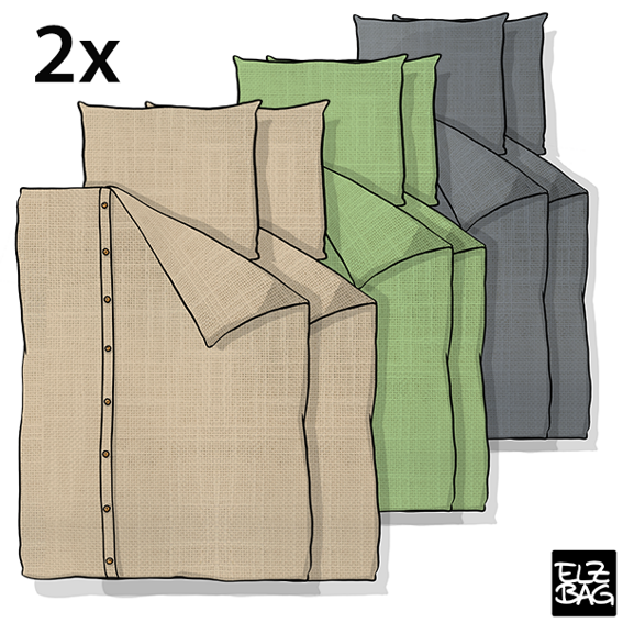 2 sets of bed linen 135x200cm - EARLY BIRD