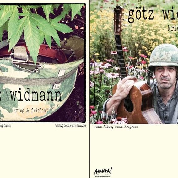 Götz Widmann - Krieg & Frieden (handsigniert)