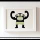 """Siebdruck """"Starker Affe"""" (von Zubinski) + POLLE #1"""