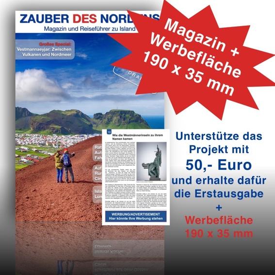 Für Firmen: Werde Sponsor der Erstausgabe und erhalte eine Werbefläche (190 x 35 mm)