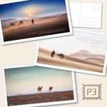 Postkarten XL - Set P3: Drei liebevoll gestaltete Postkarten mit Zitaten & Bildern aus dem Buch