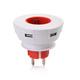 NIMM DREI - 3 x USB plug - die clevere USB Steckdose (grau, rot, grün oder blau)