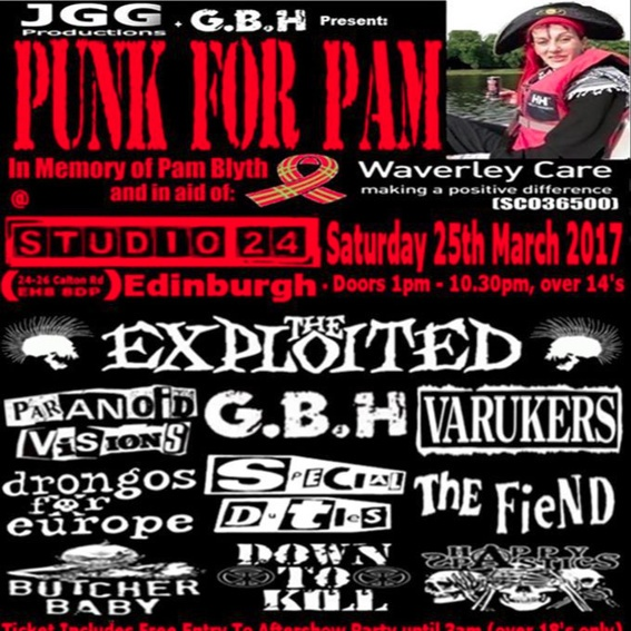 Punk For Pam Ticket!