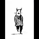 """Originalzeichnung """"Feiner Herr"""" von Philip Waechter + POLLE Nummer 1"""