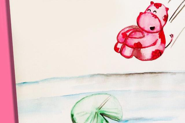 Winsu - Das rosa Blütennilpferd