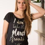 passion for planet no1 – women shirt schwarz