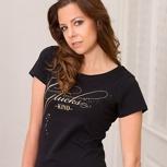 glückskind – women shirt schwarz