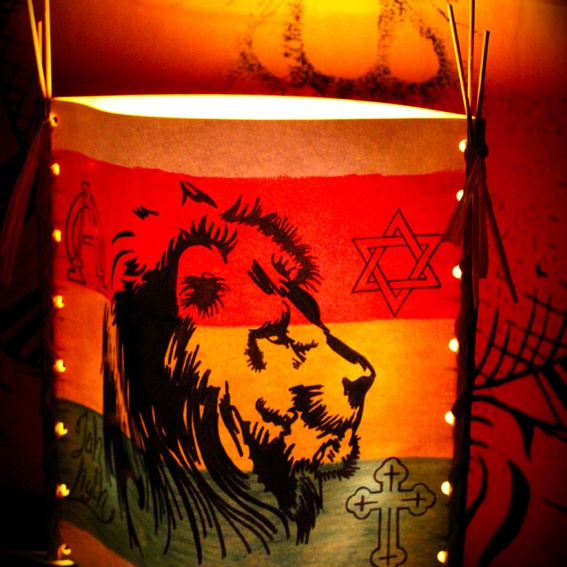 """Jah Light Lampe """"Face Of A Lion"""", limited edition"""