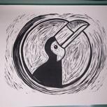 A3-Druck des Logomotivs vom NAF 2017