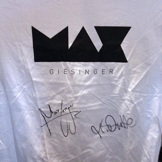 MAX GIESINGER Shirt signiert Herren XL