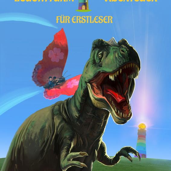 Leuchtturm der Abenteuer, Erstlesebuch für Kinder, signiert vom Autor Karim Pieritz