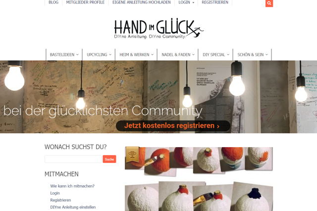 Hand im Glück - Do It Yourself online Community