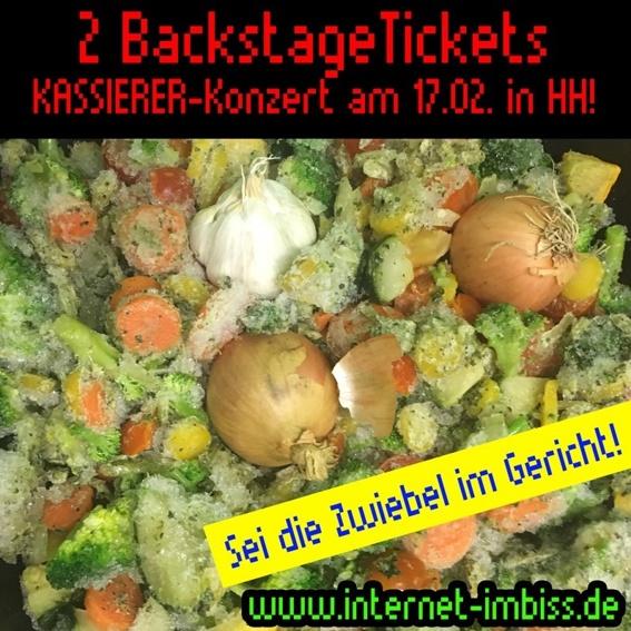 2 Backstage-Tickets für DIE KASSIERER in Hamburg