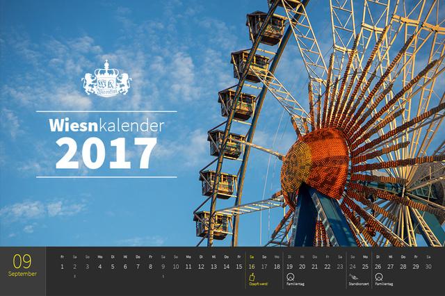 Wiesnkini Oktoberfest-Kalender 2017