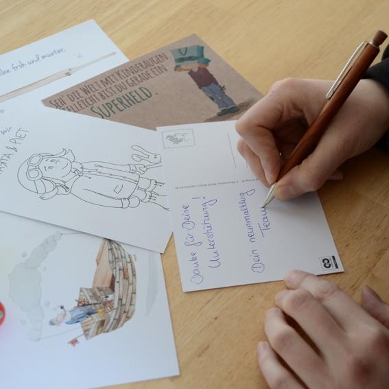 Postkarten-Set & Sticker