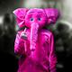 Du als pinker Elefant auf der Bühne!