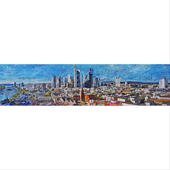 Leinwanddruck Panorama Frankfurt