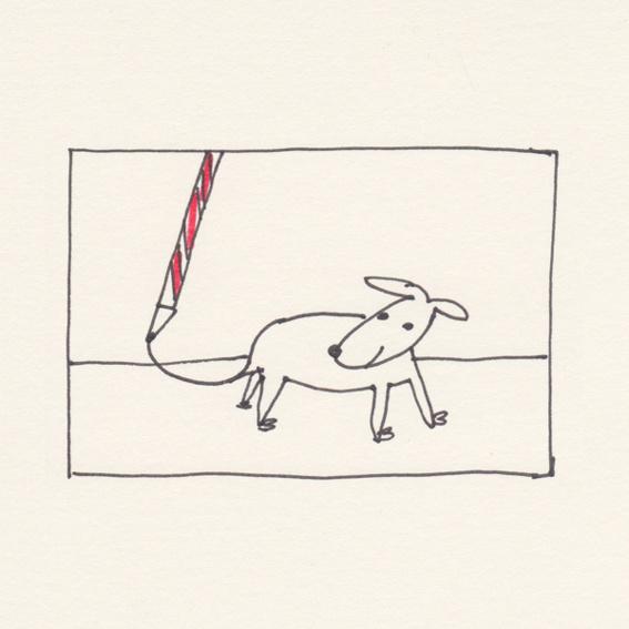 """""""Wartende Hunde. Ein Buch über die Treue"""" & eine Zeichnung von Barbara Wrede"""