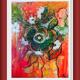 """Gemälde """"Nachhaltig im Bild gebannt"""", Mischtechnik - Ernesta Puntigam"""