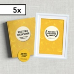 5-er Set: 5 Hardcover-Kochbücher inkl. 5 Aufkleber und 5 Urkunden