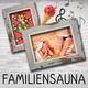 Familiensauna - 3 Std. Saunafloß für 2 Erw. + Kinder bis 12J.