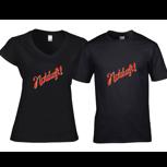 T-Shirt Notdurft-Schriftzug