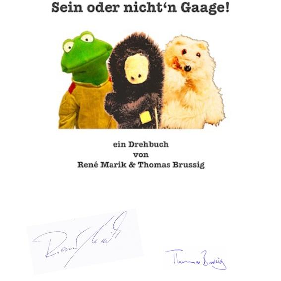 ORIGINALDREHBUCH mit Signaturen