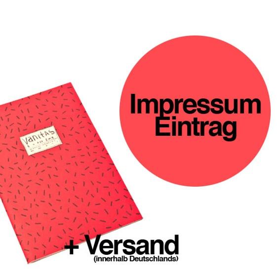 1 Ausgabe »Superzine Vanitas« (Pre-Order) + 1 namentliche Nennung und Danksagung im Impressum des Magazins