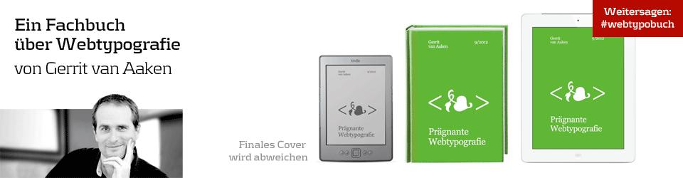 """""""Prägnante Webtypografie"""" (E-Book und Print-Kleinauflage)"""