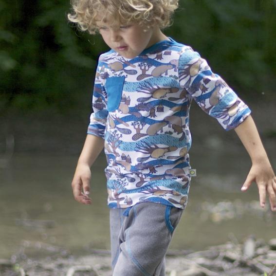3/4 Sleeve Shirt SAMU (beaver)