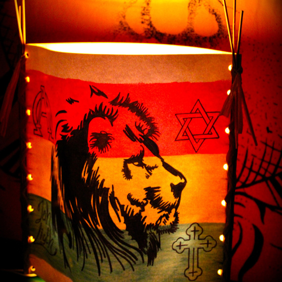 """Jah Light lamp """"Face Of A Lion"""", limited edition"""