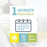 Monats-Stipendium und Nennung auf unserer Website