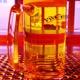 0,5 Liter gezapftes Bier
