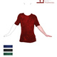 Basic T-Shirt aus 100 % Bamboo double knit