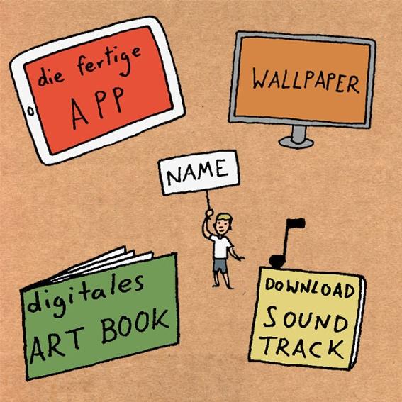 NASEWEIS: Die App, digitales Wallpaper, Name in den Credits, ein digitales Artbook und den Soundtrack der App zum Download.