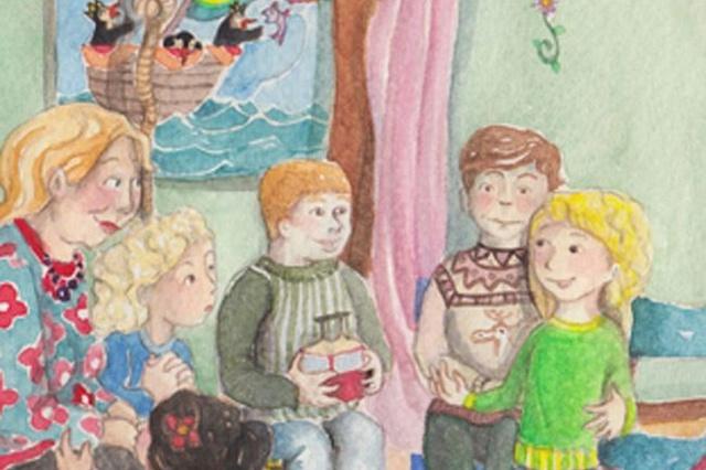 Mama meditiert, Bilderbuch für große und kleine Kinder