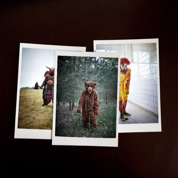 Set of Postcards, 3 selected photographs from the book